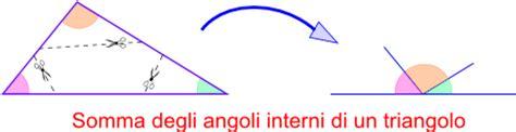 somma degli angoli interni di un triangolo quinta elementare classificazione dei triangoli in base
