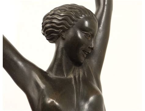 superbe sculpture m 233 tal femme olympie feyral le verrier d 233 co xx 232