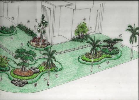 sketsa taman tukang taman murah tukang taman