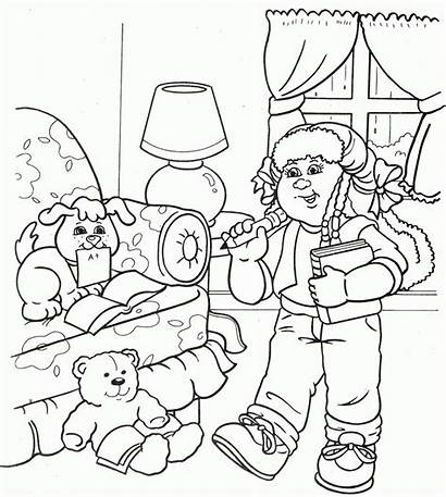 Coloring Pages Cabbage Patch Sheets Colouring Clipart