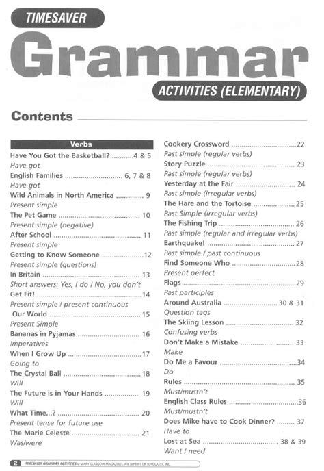 grammar worksheets elementary timesaver grammar activities elementary grammar
