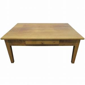 antique cherry wood plank top coffee table for sale at 1stdibs With wood plank top coffee table