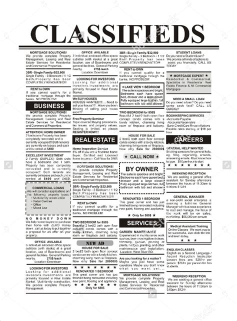 15+ Newspaper Ad Templates  Free Sample, Example, Format