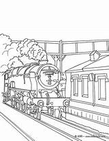 Train Coloring Steam Pages Station Locomotive Tunnel Engine Subway Drawing Trains Getting Rail Template Fashioned Printable Drawings Sheets Getdrawings Sketch sketch template