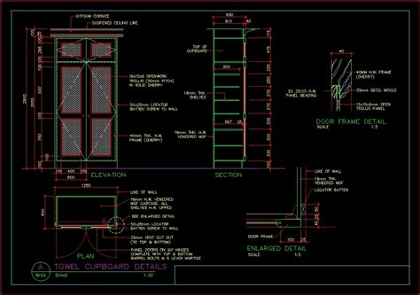 details cabinet dwg detail for autocad designs cad