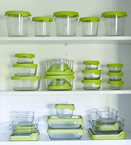 kitchen storage containers glass anchor hocking trueseal glass food storage containers with 6158