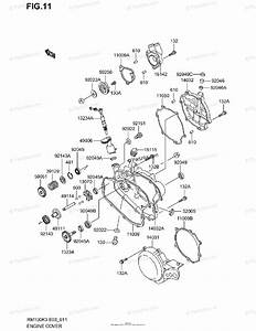 Suzuki Motorcycle 2003 Oem Parts Diagram For Engine Cover