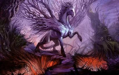 Fantasy Horse Purple Anime Elemental Earth Dragon