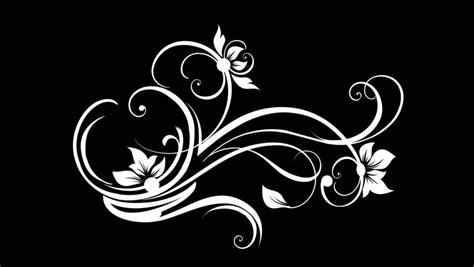 horizontal ornamental swirl vine stock footage video