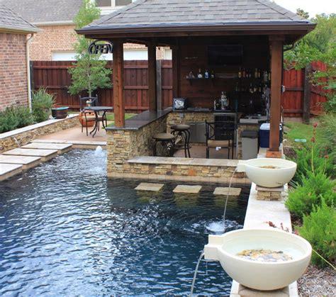 Small Outdoor Kitchen Design Ideas - 33 mega impressive swim up pool bars built for entertaining