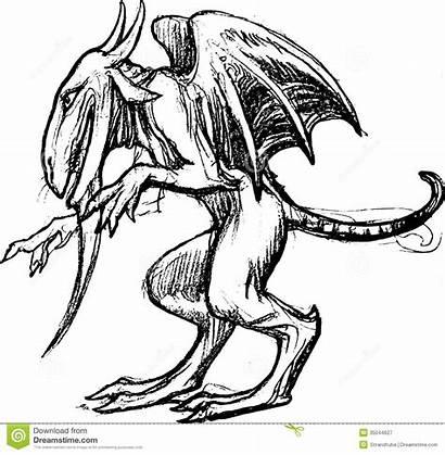 Dragon Drawn Gezeichneter Drache