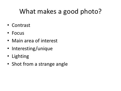What Makes A Good Or Bad Photo