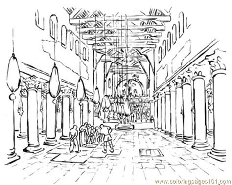 Building The Temple Coloring Pages Temple Churches Basilicas Cathedrals And Stained Glass