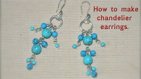 how to make chandelier earrings diy