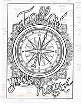 Compass Rose Blank Coloring Template sketch template