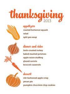 customizable thanksgiving menus hgtv