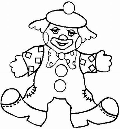 Clown Coloring Circus Pages Colouring Theme Clowns