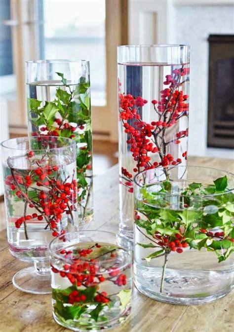 diy deco de noel vase houx decoration noel deco noel