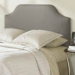 king size upholstered headboard in dolphin grey taupe polyester affordable beds