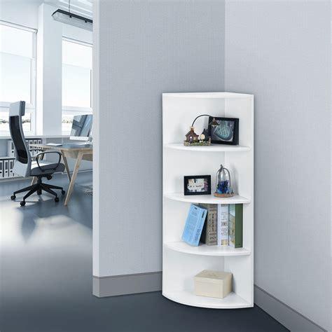 5 tier bedroom office corner shelf bookcase shelves unit