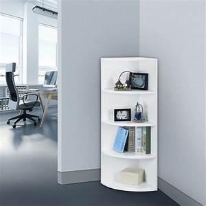 5 tier bedroom office corner shelf bookcase shelves unit for Office corner shelf