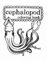 Coloring Squid Printable Pages Mollusc Squids Etsy Cephalopod Octopus Cuttlefish Books Items Stuff Super Sewing Esty Designlooter Ocean Similar sketch template