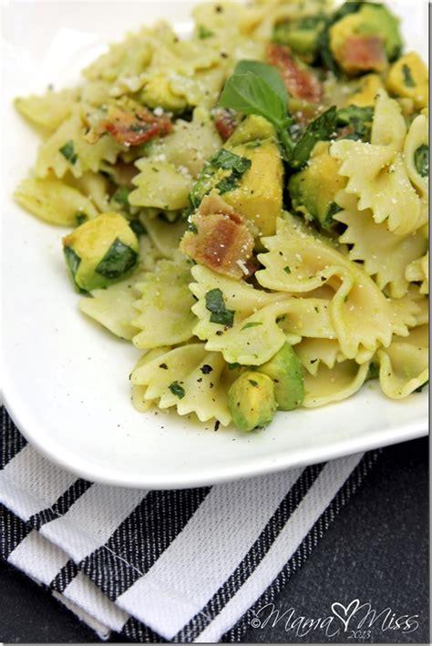 avocado basil pasta bacon basil avocado pasta