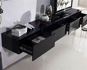 Meuble Tv Suspendu Conforama : meuble tv suspendu 25 id es pour un int rieur l gant ~ Dailycaller-alerts.com Idées de Décoration