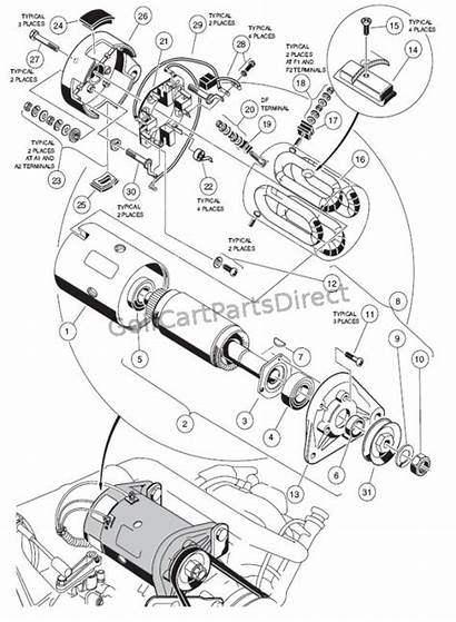 Starter Generator 2000 Assy Club Parts Gas