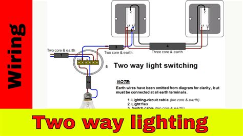How Wire Two Way Light Switch Lighting Circuit