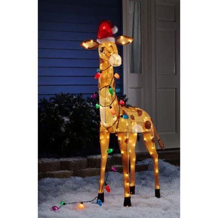 holiday time   tinsel giraffe walmartcom