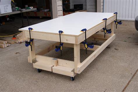 wood  workbench  wheels plans