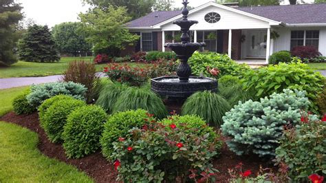 style landscape design residential landscape design landscape design pictures a water fountain in the center of garden