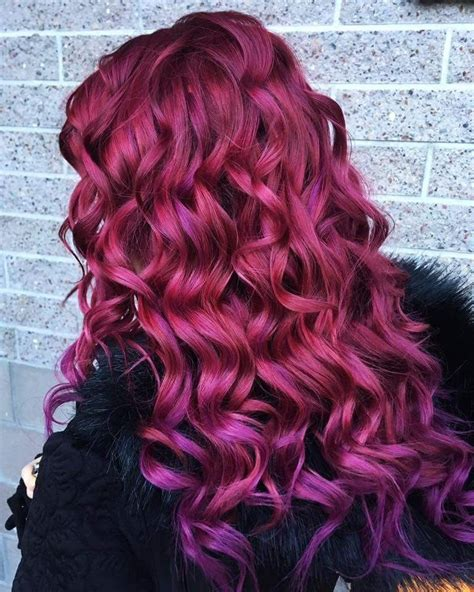 My Own Hair Purple On Faded Red Hair Colour Hairdresser