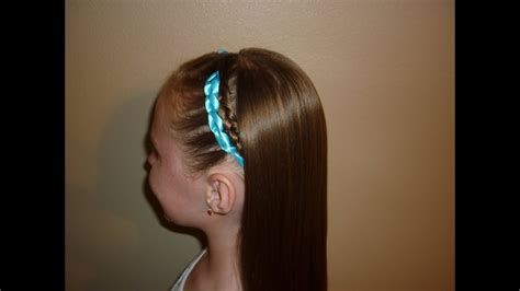 Crocheted Ribbon Braided Hairstyle