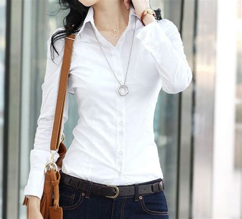 wit shirt lange mouw dames