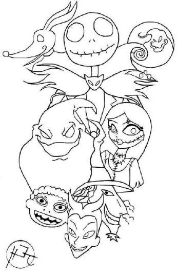 nightmare  christmas coloring pages printable part