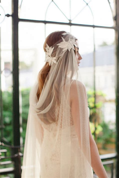 bohemian wedding veils and headpieces
