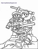 Coloring Lego Pages Army Wars Star Popular sketch template