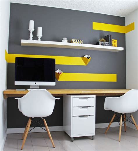 bureau decor energize your workspace 30 home offices with yellow radiance