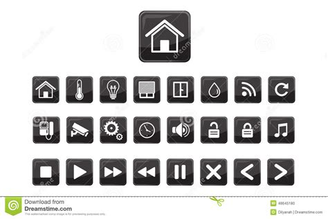 efficiency house plans home automation smart home icon set stock vector image