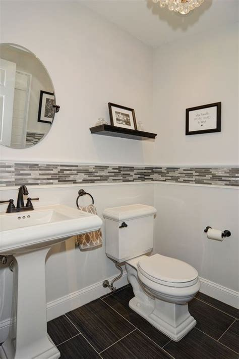 pedestal sink backsplash ideas  blend classic