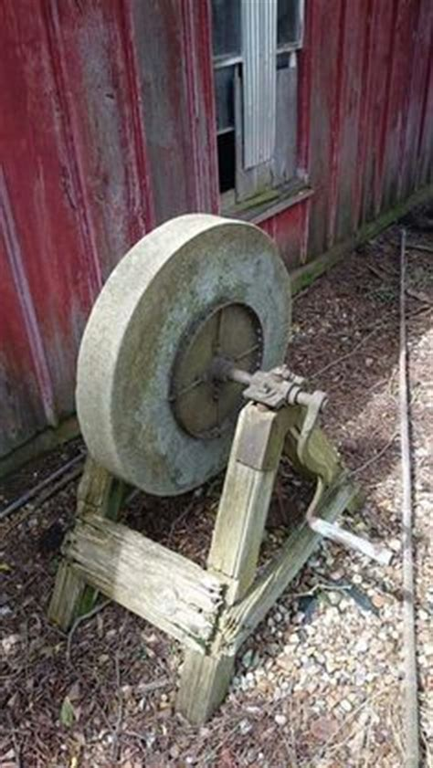antique grinding stone pedal wheel  seat sandstone