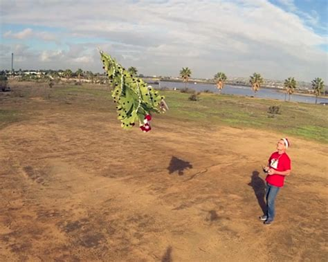 santa s flying christmas tree drone created by otto