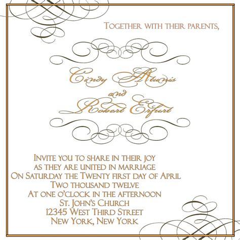 wedding invitations templates wedding invitation etiquette address template best template collection