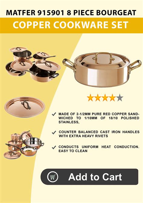 copper cookware  reviews ratings buying guide