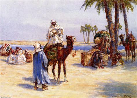 tiffany les les voyageurs proches de le caire aquarelle de louis