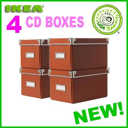 cd box ikea 4 orange ikea storage cd boxes lid container cases box ebay