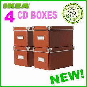 Ikea Cd Box : 4 orange ikea storage cd boxes lid container cases box ebay ~ Orissabook.com Haus und Dekorationen