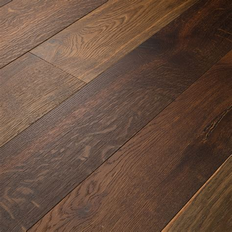 white oak smoked engineered flooring brushed clear mm face